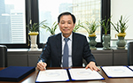 "Hyosung TNC CEO Kim Yong-seup says ""will not use disposa..."